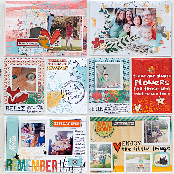 Heather Greenwood Designs | Week 29 2014 pocket scrapbook page | Digital Mixed Media Tutorial and Process