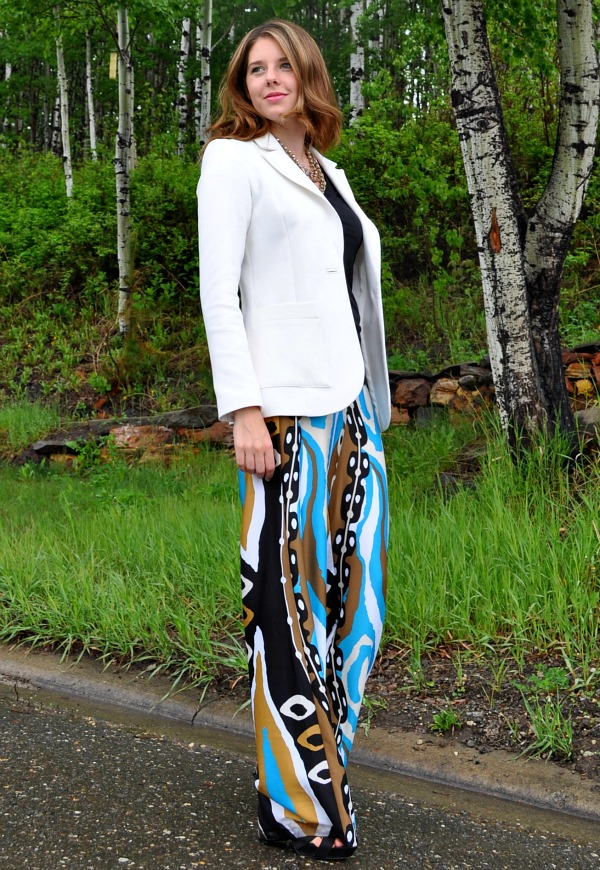 How to Wear Silk Printed Pants
