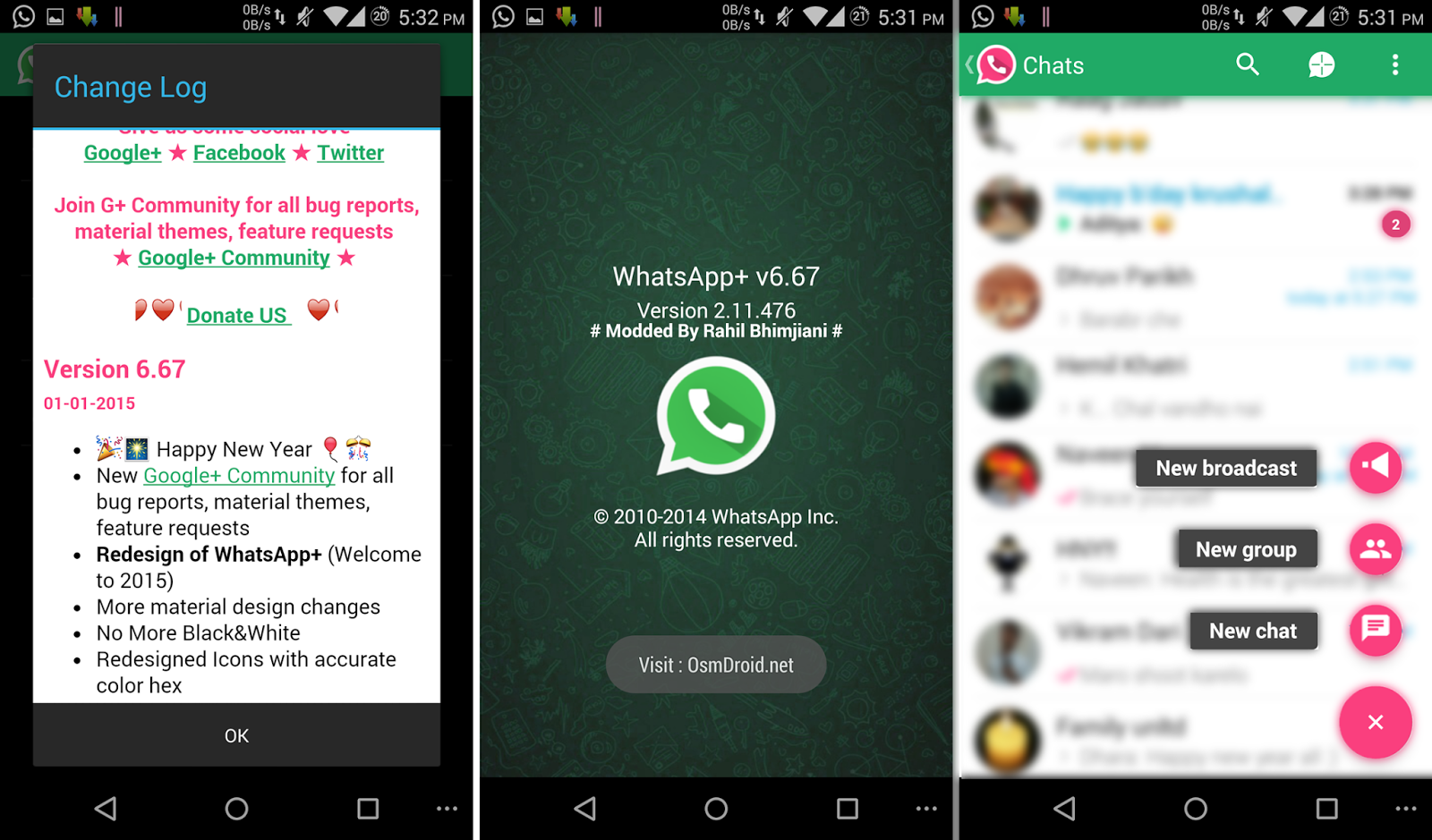 WhatsApp+ Plus v6.67 Material Modded Cracked Hide Last Seen