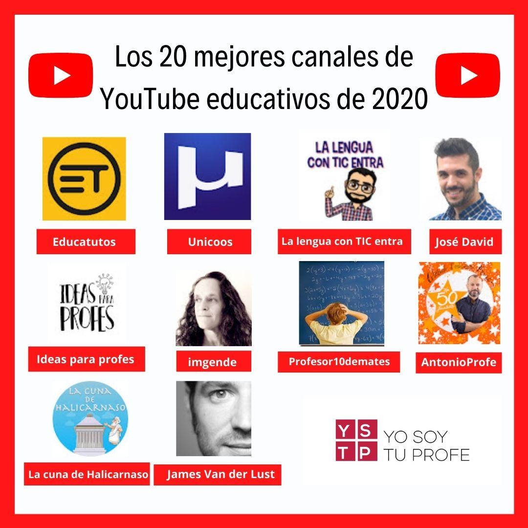 """Incluido en """"Los 20 mejores canales de YT educativos de 2020"""" (Yo soy tu profe - 20minutos)"""
