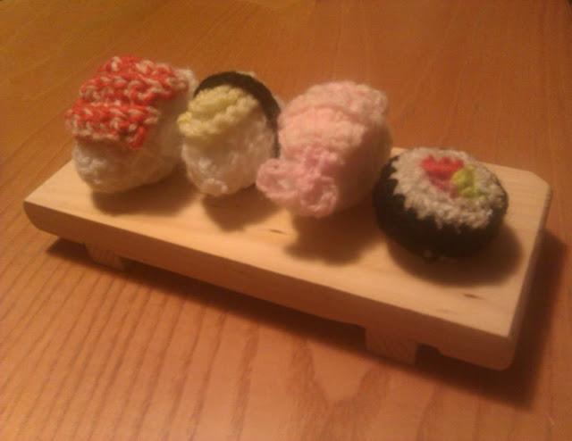 sushi hand made amigurumi paris luckymonkey schema