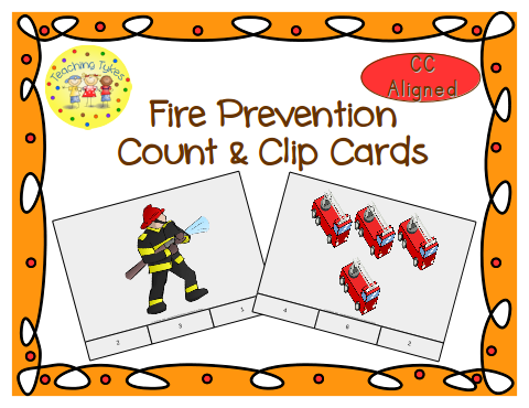 http://www.teacherspayteachers.com/Product/Fire-Prevention-Count-Clip-Cards-Common-Core-Aligned-903157