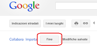 Google Maps - Pulsante Fine