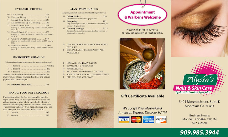 Alyssa's Nails & Skin Care Brochure