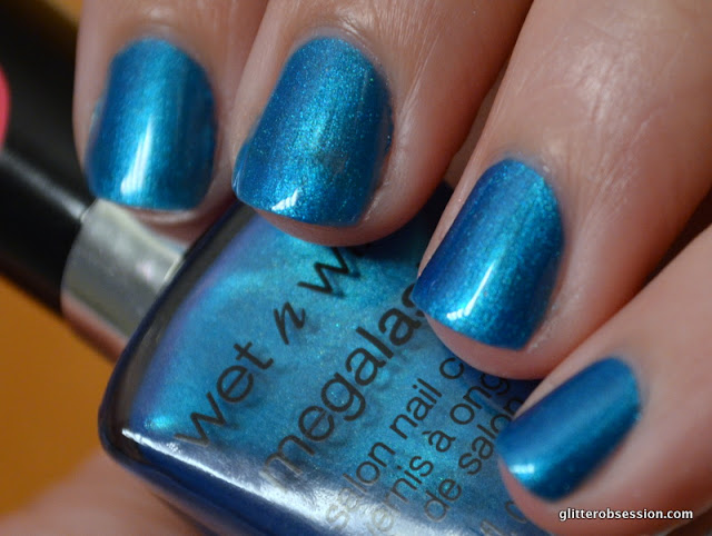 Wet N Wild Blue Visionary swatch, Wet N Wild Blue Visionary nail swatch