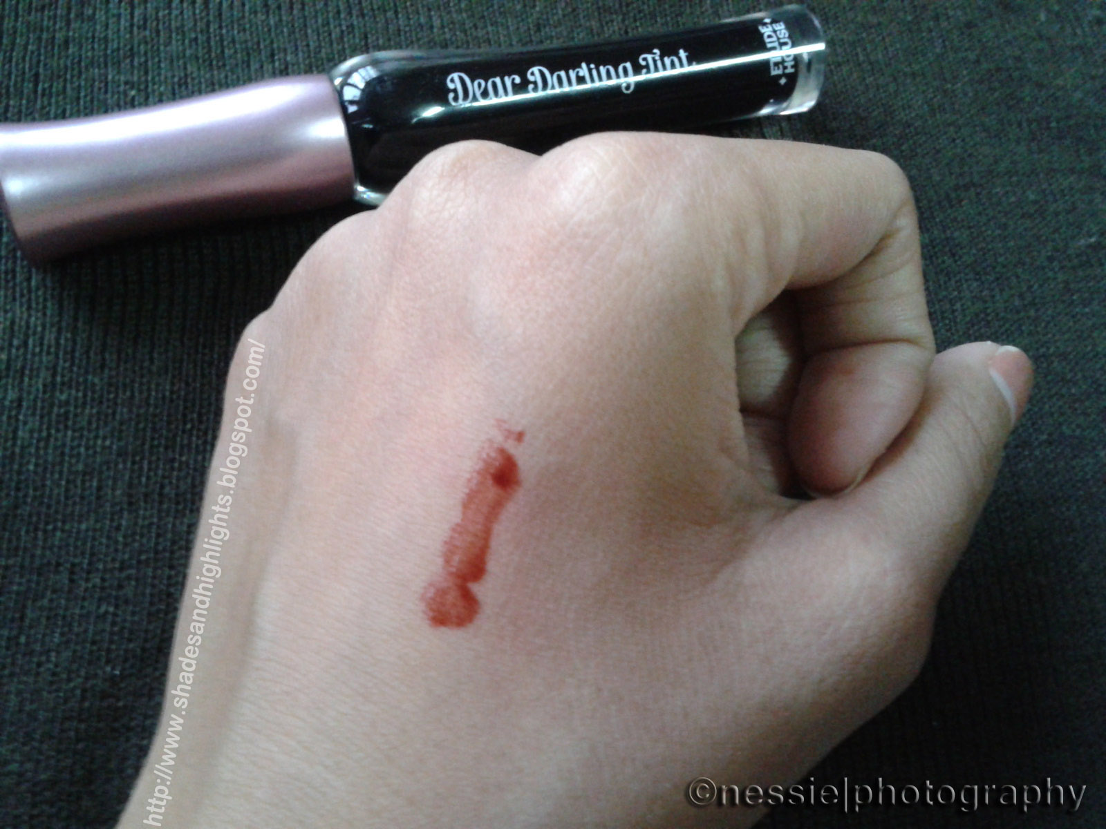 Etude House Dear Darling Tint in Vampire Red Swatch
