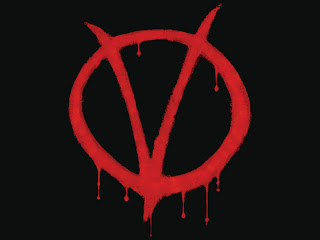 V For Vendetta V Logo HD Wallpaper