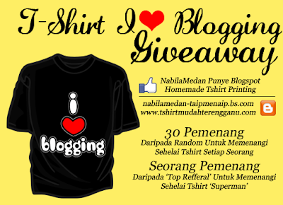 T Shirt I Love Blogging Giveaway