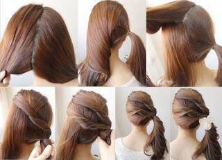 Gambar Cara Mengepang Rambut Unik dan Cantik