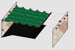Como hacer toldo corredizo materiales de construcci n for Roldanas para toldos
