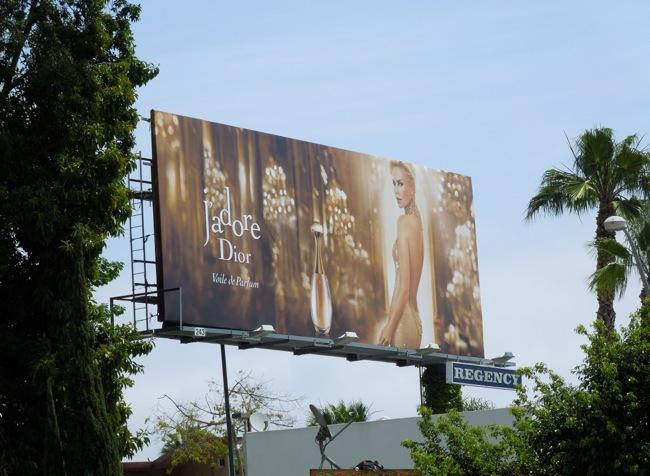 Charlize Theron J'Adore Voile de Parfum Dior billboard