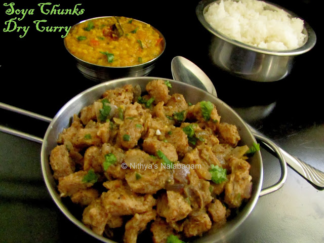 Soya chunks poriyal