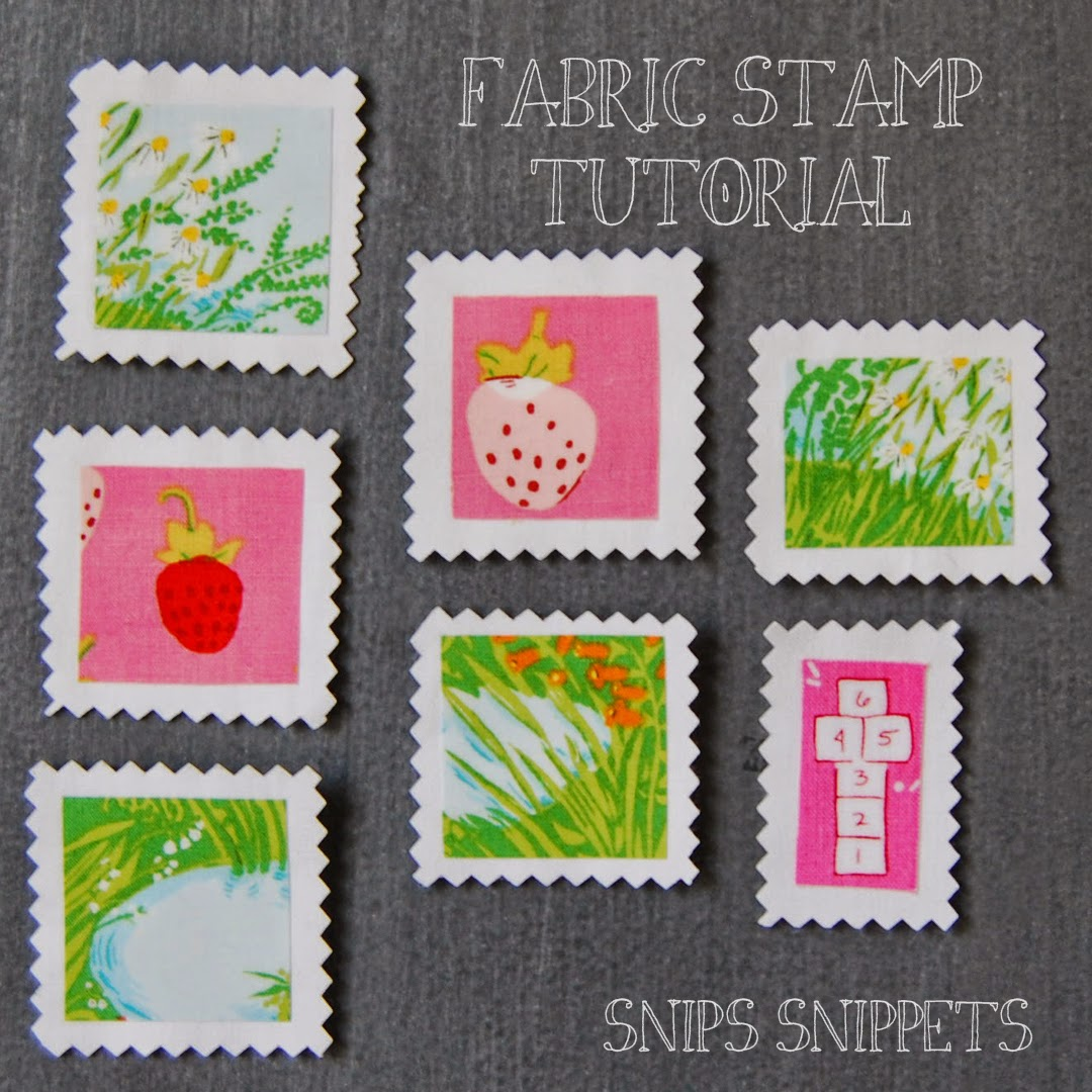 Snips Snippets Fabric Stamp Tutorial