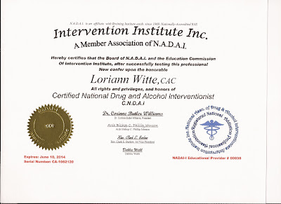 Licensed, Certified, and Insured Interventionist