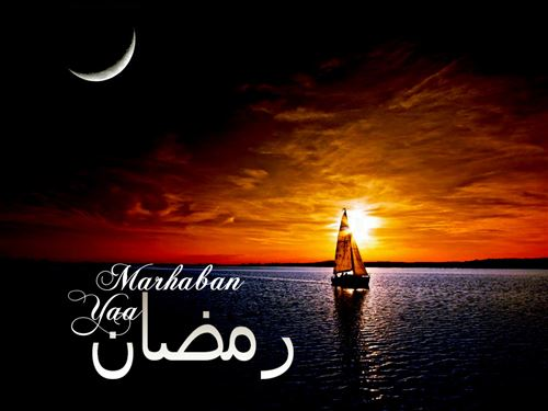 An Amazing Picture With Ramadan Message And Sunset Background Is Nice To Make Cover
