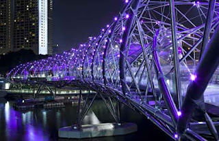 The Helix Bridge, Singapore.