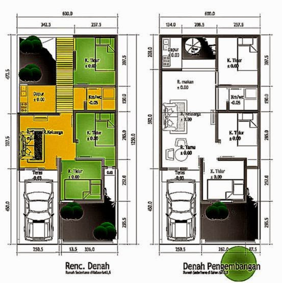Sketsa Denah Rumah Minimalis Sederhana Modern 2015