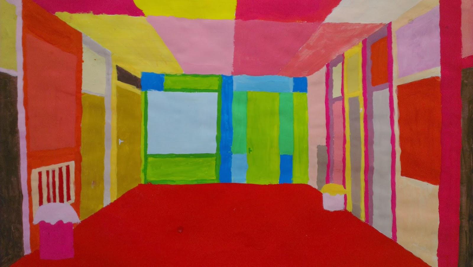 Kunstenmakers: centraal perspectief in warme en koude kleuren