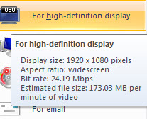 how to change aspect ratio in windows live movie maker