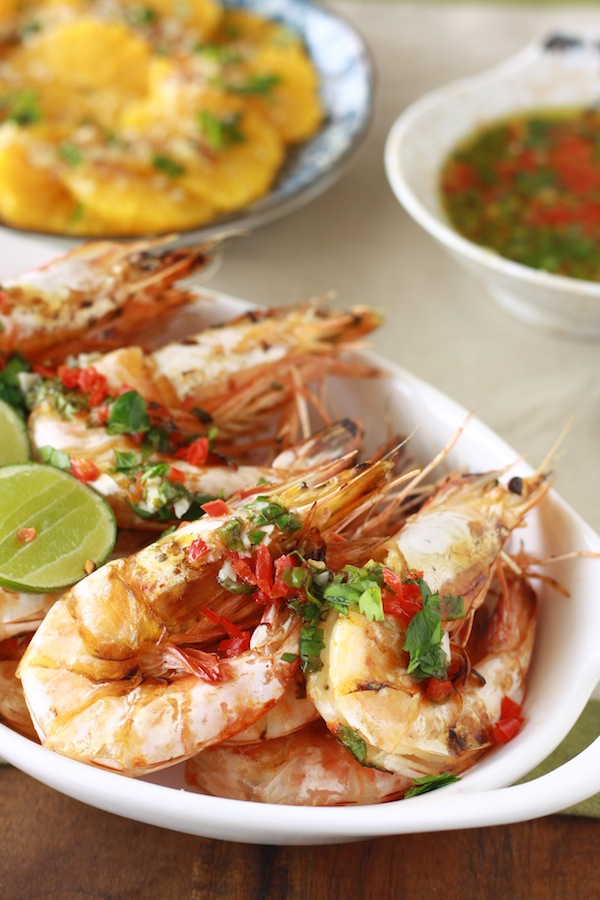 Shrimp with Chili Lime Dressing recipe by Season with Spice