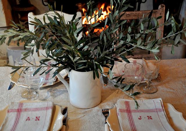 oliviers ,feu de cheminée