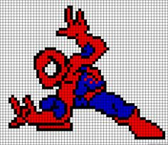 Spider-man pixel art building idea