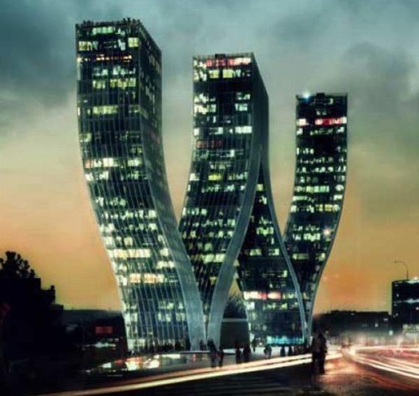 Arquitectura edifisios raros edificio en forma de w for Architecte nom