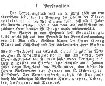 Jahresbericht der Direktion der DEEG von 1851