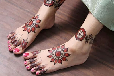 Bridal Mehndi On Foot : Beautiful bridal mehndi designs for feet legs wallpapers