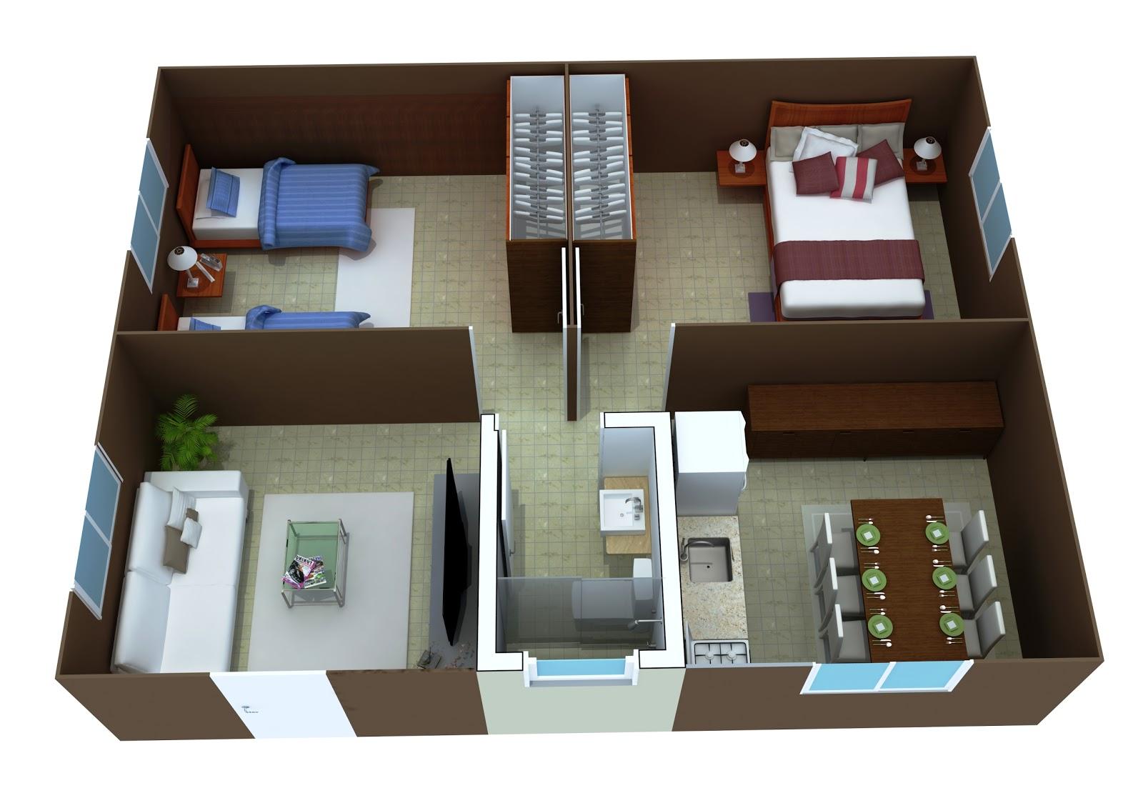 Sd3d computa o gr fica planta humanizada 3d casa de - Crear casas 3d ...