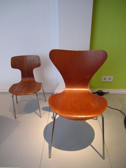 Arne Jacobsen chairs in the Museum Fur Kunst Und Gewerbe in Hamburg, Germany.