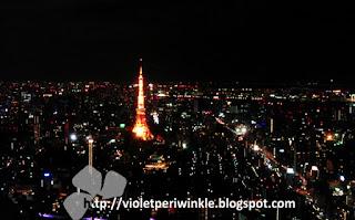 night lights city view Tokyo