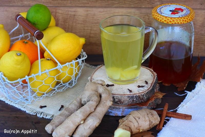 Przepis na herbatę imbirową z miodem