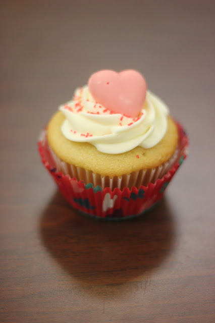 Pink Valentine's Day Cupcake