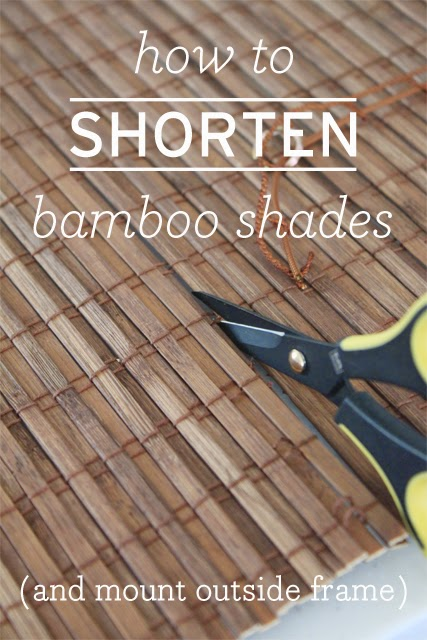 how to shorten bamboo shades danks and honey. Black Bedroom Furniture Sets. Home Design Ideas