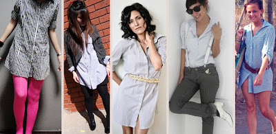 2a187c6f2 O jeito mais comum e simples de vestir a camisa do namorado é usá-la como  vestido. Ela pode ser usada com cintos de diferentes ...