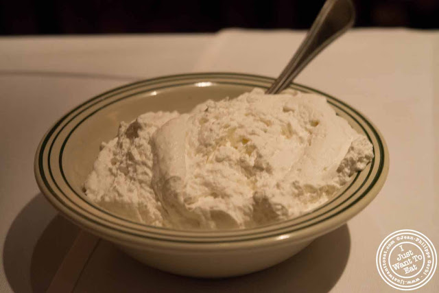 Image of Whipped cream at Empire Steakhouse in NYC, New York