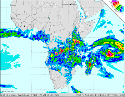 SA Weather and Disaster Observation Service: GFS 72 Hour Forecasts of