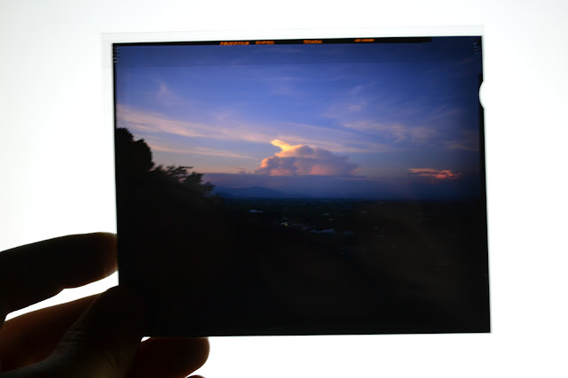 Fuji Velvia, 50 ISO, 4x5 Slide, Film, Mountain, Top, Sun Set, Japan,