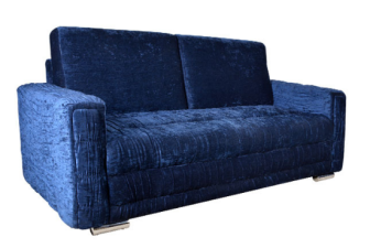 Buy Premium Three Seater Sofa with Wrinkled Effect in Dark Blue Colour by Furny at 66% off at Pepperfry