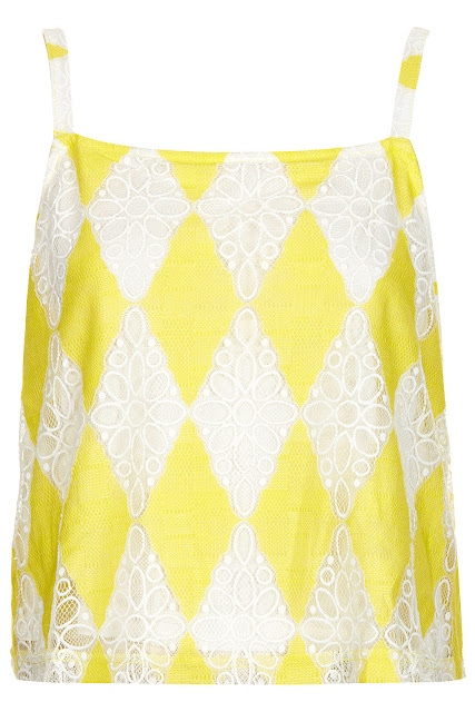 lemon lace crop