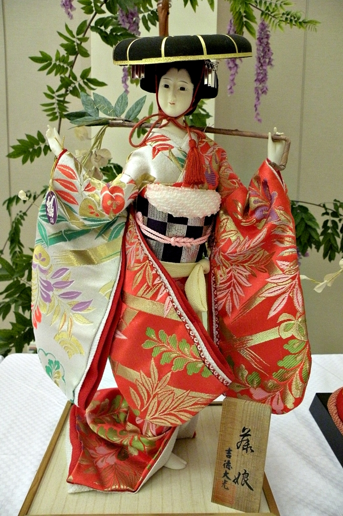 Local Style Beautiful Japanese Dolls In Traditional Dresses