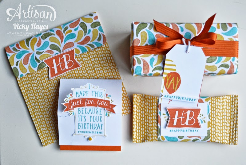 Stampin' Up products and colours coordinate beautifully