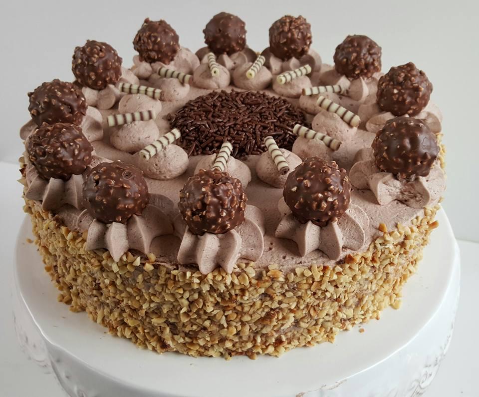 Ferrero Rocher Nougat Torte