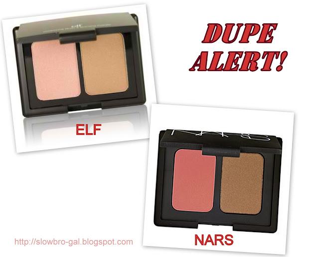 Dupe Alert: NARS Blush & Bronzer Duo vs. ELF Contouring Blush ...