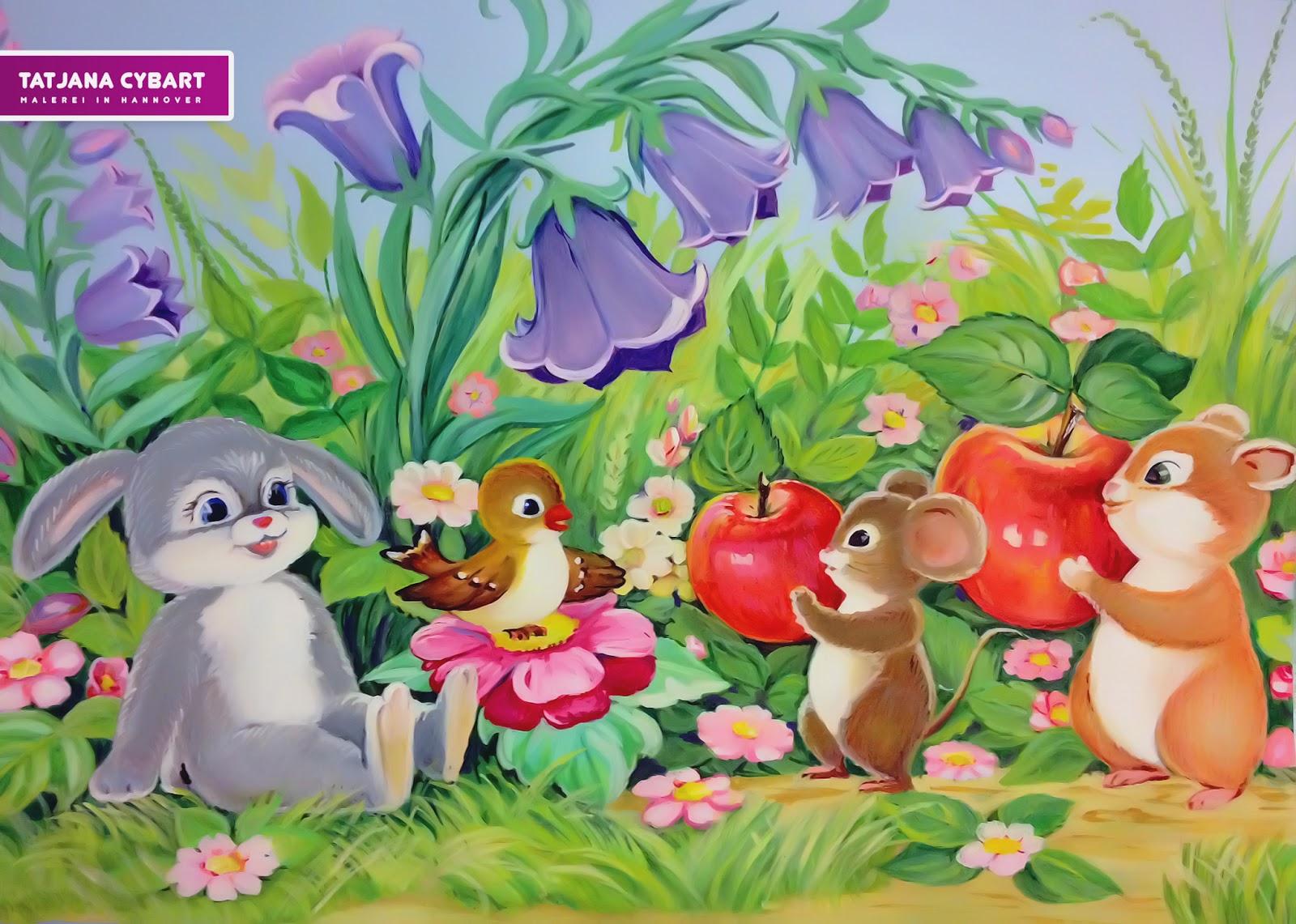 Kinderzimmer wandbemalung vorlagen  Wandmalerei Für Kinderzimmer: Modernes haus : kleines kleines ...
