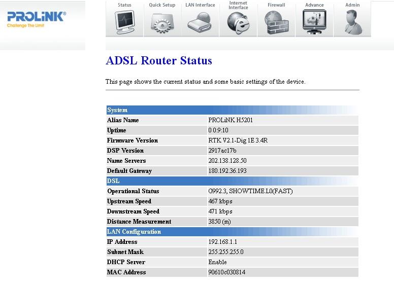 prolink modem driver