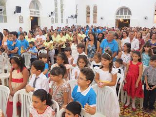 Imagens da 7ª noite de novena em honra ao Sagrado Coração de Jesus 2015