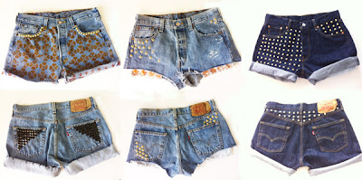Modelos shorts jeans diferentes 2014