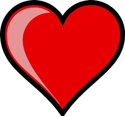 Simbolo coração vazio